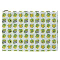 St Patrick s Day Background Symbols Cosmetic Bag (xxl)  by Simbadda