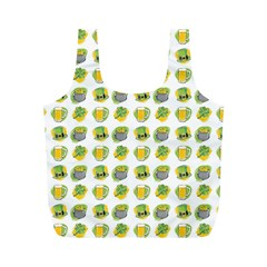 St Patrick s Day Background Symbols Full Print Recycle Bags (m)  by Simbadda