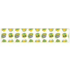 St Patrick s Day Background Symbols Flano Scarf (small) by Simbadda