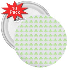 Shamrock Irish St Patrick S Day 3  Buttons (10 Pack)  by Simbadda