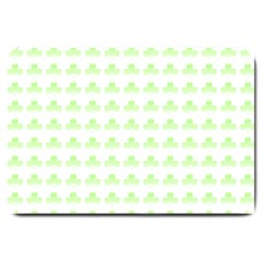 Shamrock Irish St Patrick S Day Large Doormat  by Simbadda