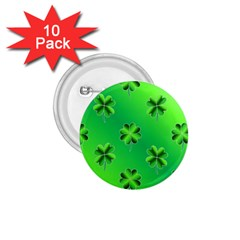 Shamrock Green Pattern Design 1 75  Buttons (10 Pack) by Simbadda