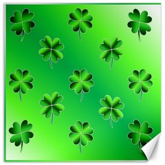 Shamrock Green Pattern Design Canvas 16  X 16   by Simbadda