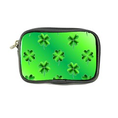 Shamrock Green Pattern Design Coin Purse by Simbadda