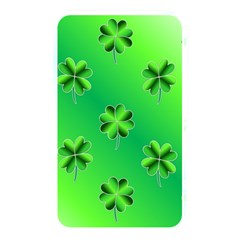 Shamrock Green Pattern Design Memory Card Reader by Simbadda