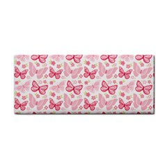 Cute Pink Flowers And Butterflies Pattern  Cosmetic Storage Cases by TastefulDesigns