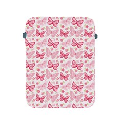 Cute Pink Flowers And Butterflies Pattern  Apple Ipad 2/3/4 Protective Soft Cases by TastefulDesigns