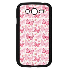 Cute Pink Flowers And Butterflies Pattern  Samsung Galaxy Grand Duos I9082 Case (black) by TastefulDesigns