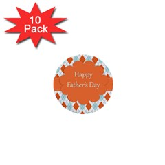 Happy Father Day  1  Mini Buttons (10 Pack)  by Simbadda