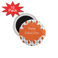 Happy Father Day  1 75  Magnets (10 Pack)  by Simbadda
