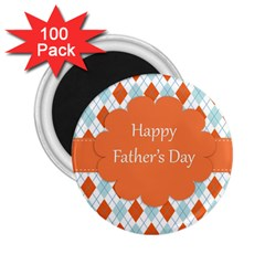 Happy Father Day  2 25  Magnets (100 Pack)  by Simbadda