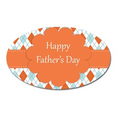 Happy Father Day  Oval Magnet by Simbadda