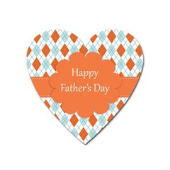 Happy Father Day  Heart Magnet by Simbadda