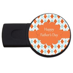 Happy Father Day  Usb Flash Drive Round (2 Gb) by Simbadda