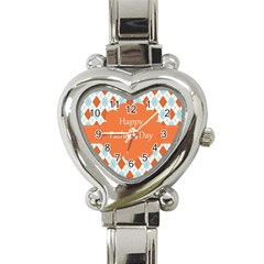 Happy Father Day  Heart Italian Charm Watch