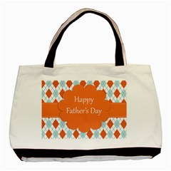 Happy Father Day  Basic Tote Bag (two Sides) by Simbadda