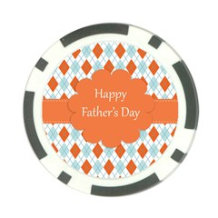 Happy Father Day  Poker Chip Card Guard by Simbadda