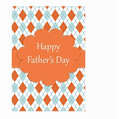Happy Father Day  Large Garden Flag (two Sides) by Simbadda