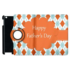 Happy Father Day  Apple Ipad 3/4 Flip 360 Case by Simbadda