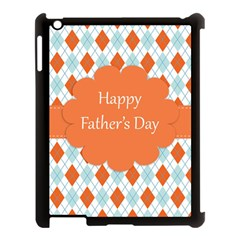 Happy Father Day  Apple Ipad 3/4 Case (black) by Simbadda