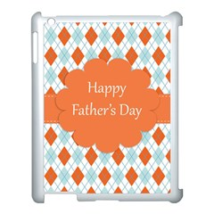 Happy Father Day  Apple Ipad 3/4 Case (white) by Simbadda
