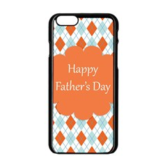 Happy Father Day  Apple Iphone 6/6s Black Enamel Case by Simbadda