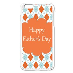 Happy Father Day  Apple Iphone 6 Plus/6s Plus Enamel White Case by Simbadda