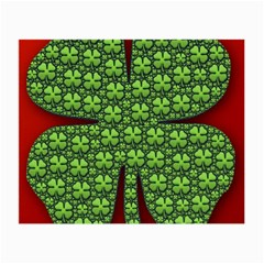 Shamrock Irish Ireland Clover Day Small Glasses Cloth by Simbadda