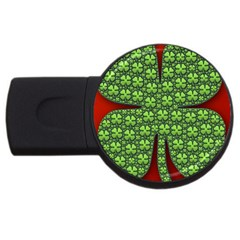 Shamrock Irish Ireland Clover Day Usb Flash Drive Round (4 Gb) by Simbadda