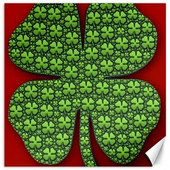 Shamrock Irish Ireland Clover Day Canvas 16  X 16   by Simbadda