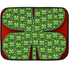 Shamrock Irish Ireland Clover Day Double Sided Fleece Blanket (mini)