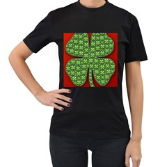 Shamrock Irish Ireland Clover Day Women s T Shirt (black)