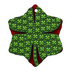 Shamrock Irish Ireland Clover Day Ornament (snowflake)