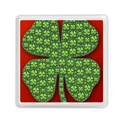 Shamrock Irish Ireland Clover Day Memory Card Reader (square)  by Simbadda