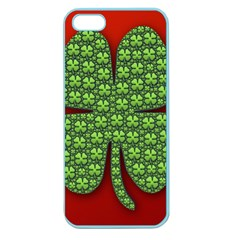 Shamrock Irish Ireland Clover Day Apple Seamless Iphone 5 Case (color) by Simbadda