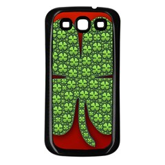 Shamrock Irish Ireland Clover Day Samsung Galaxy S3 Back Case (black) by Simbadda