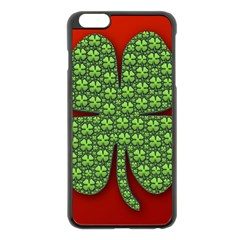 Shamrock Irish Ireland Clover Day Apple Iphone 6 Plus/6s Plus Black Enamel Case by Simbadda