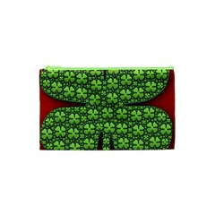 Shamrock Irish Ireland Clover Day Cosmetic Bag (xs) by Simbadda