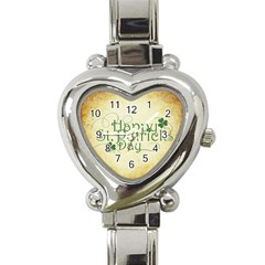 Irish St Patrick S Day Ireland Heart Italian Charm Watch by Simbadda