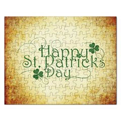 Irish St Patrick S Day Ireland Rectangular Jigsaw Puzzl by Simbadda