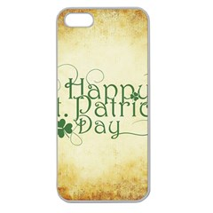 Irish St Patrick S Day Ireland Apple Seamless Iphone 5 Case (clear) by Simbadda