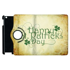 Irish St Patrick S Day Ireland Apple Ipad 3/4 Flip 360 Case by Simbadda