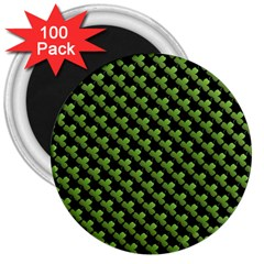 St Patrick S Day Background 3  Magnets (100 Pack) by Simbadda