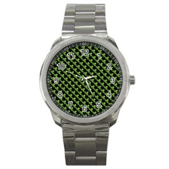 St Patrick S Day Background Sport Metal Watch by Simbadda