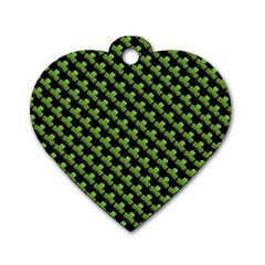 St Patrick S Day Background Dog Tag Heart (two Sides) by Simbadda