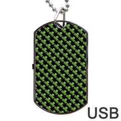 St Patrick S Day Background Dog Tag Usb Flash (two Sides) by Simbadda