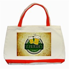 Irish St Patrick S Day Ireland Beer Classic Tote Bag (red) by Simbadda