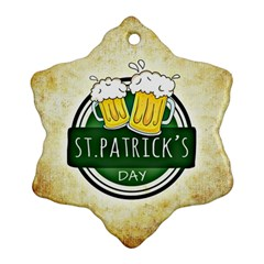 Irish St Patrick S Day Ireland Beer Ornament (snowflake)