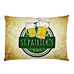 Irish St Patrick S Day Ireland Beer Pillow Case (two Sides) by Simbadda