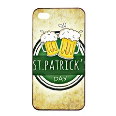 Irish St Patrick S Day Ireland Beer Apple Iphone 4/4s Seamless Case (black) by Simbadda